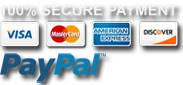 Pay with Paypal - cards accepted